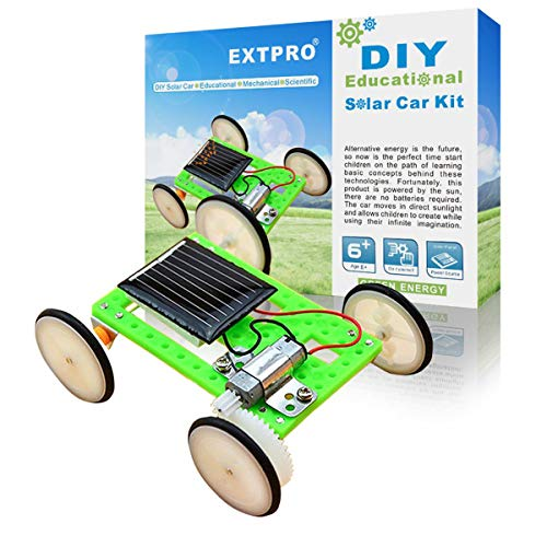 Extpro DIY Assemble Toy Set Solar Powered Car Kit Science Educational Kit for Kids Students