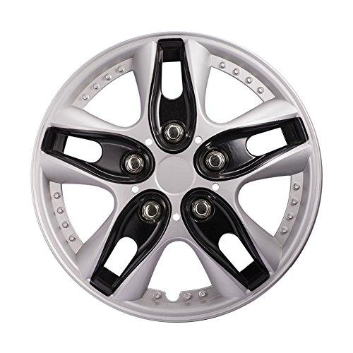 ATMOMO 12 Inch Black Hubcap Wheel Cover Replacement Car Vehicle Wheel Rim Skin Cover Pack of 4