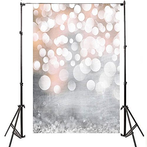 CAREONLINE Fary Gold Vinyl Wedding Backdrop for Wedding, Baby, Newborn, Personal Pictures Photo Photography Background Screen
