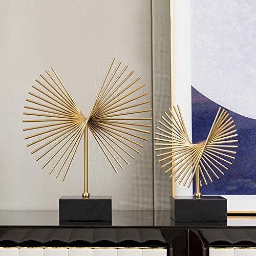WANGXINQUAN Mueble de vino moderno minimalista mueble de TV, obras de arte de entrada, decoración creativa del hogar, 2 piezas