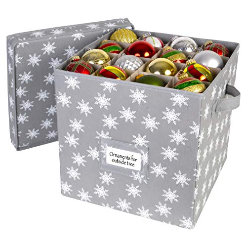 HOLDN' STORAGE Christmas Ornament Storage Box with Lid