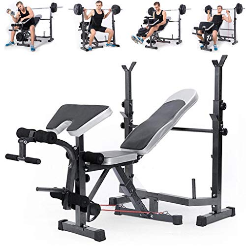 New Olympic Weight Bench, Adjustable Weight Lift Bench Rack Set,...