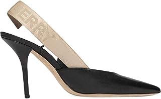 BURBERRY Women's 8015458 Black Leather Heels