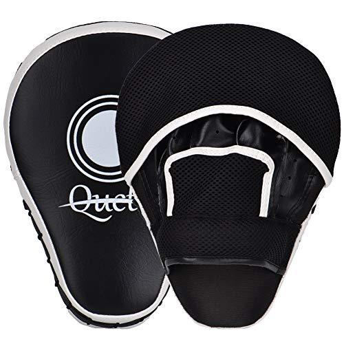 Queta Pratzen PU Handpratzen 1 Paar Trainerpratzen für Kickboxen Boxen Muay Thai Bewegung Karate Taekwondo Martial Arts (Typ2)