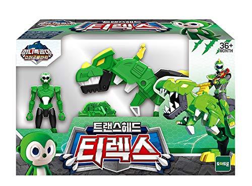 MINI FORCE Miniforce Trans Head T-Rex Super Dinosaur Power Action Figure Toy