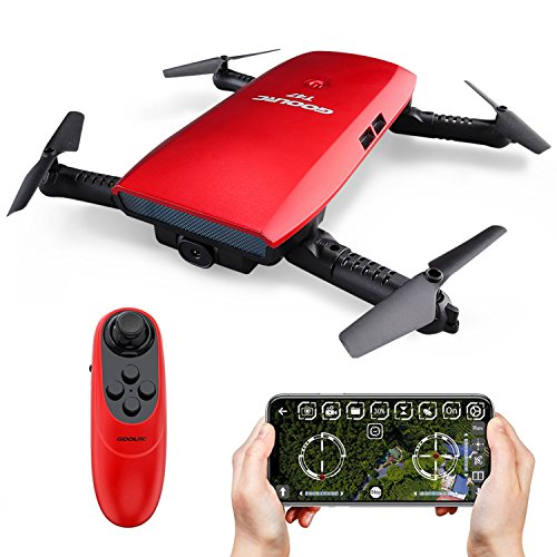 GoolRC T47 FPV Drone Foldable with Wifi Camera Live Video 2.4G 4...