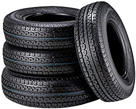 Set of 4 225/75R15 Trailer Tires Premium DOT ST225/75R15 22575R15 10PR Radial Tires, Load Range E w/Featured Side Scuff Guard