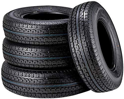 Set of 4 225/75R15 Trailer Tires New Premium ST225/75R15 22575R15 10PR Radial Tire, Load Range E w/Featured Side Scuff Guard