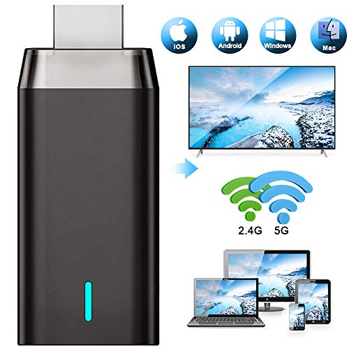Wireless WiFi Display Dongle HDMI, DIWUER 5G +2.4G Drahtlos Anzeigeempfänger Adapter,...