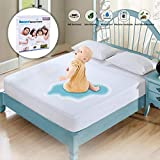Full Size Mattress Protector Waterproof Mattress Pad Cover Breathable Noiseless Deep Pocket Bed Cover for 6-14' Pad - Soft Washable Hypoallergenic Vinyl Free (White, Full)