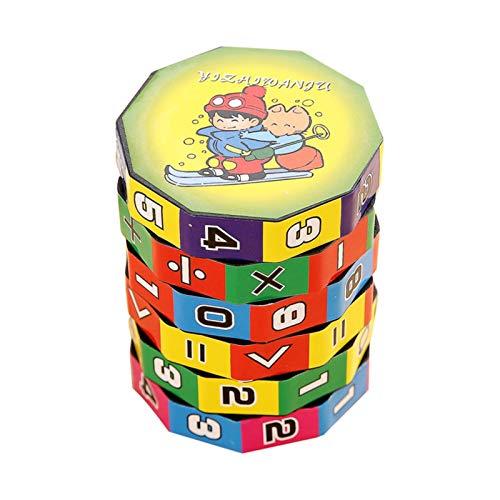 Juguetes De Aprendizaje De Matemáticas, Juego De Rompecabezas, Pegatinas De Regalo, Números, Cubo Mágico Cilíndrico, Gran Ayuda Para Que Los Niños Aprendan Matemáticas En Suma, Resta, Multiplicación