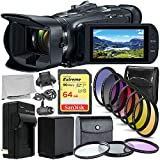 Canon Vixia HF G50 UHD 4K Camcorder with Essential Accessory Bundle – Includes: