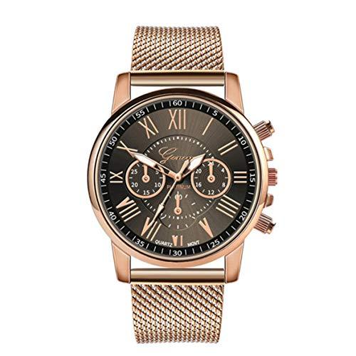 AmiAbi Personality Net Relógio de aço inoxidável Distinto luxo casual relógio de quartzo Relógios masculinos e femininos preto Excelente qualidade: material de armadilha de alta qualidade, confortá