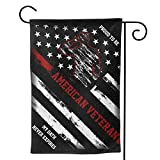 FUNCOOLCY Proud to Be American Veteran Garden Flag Double Sided House Yard Flag for Home Outdoor Decor 12.5'' X 18''