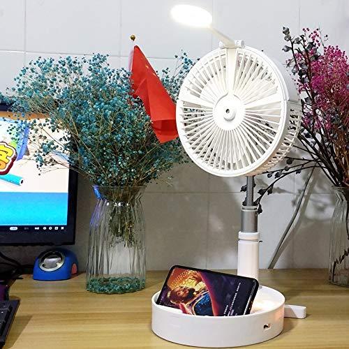 PANGTOU Ventilador de Mano Mini Fan Ventilador de pulverización humectante e hidratante Carga USB Ventilador Plegable portátil de Escritorio