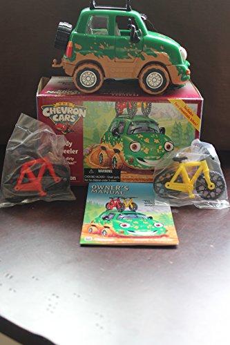 Chevron Cars Freddy 4-Wheeler with Mountain Bikes, 3 Piece Set