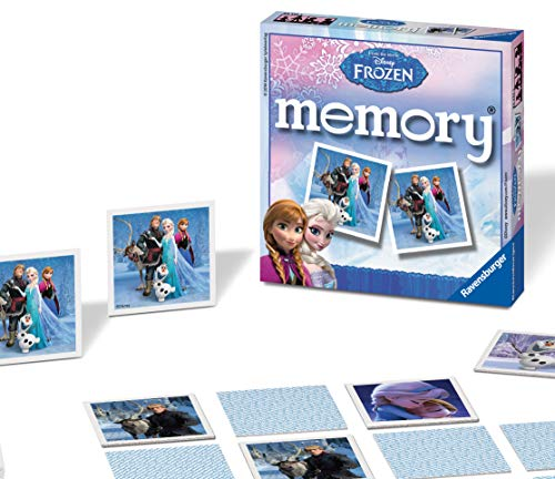 Ravensburger Disney Frozen Mini Memory Matching Picture Snap Pairs Game For Kids Age 3 Years and Up