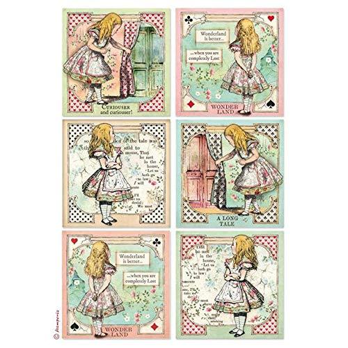 Stamperia Carta di Riso Alice Formato A4 DFSA4382