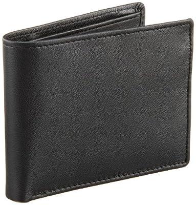 Perry Ellis Men's Gramercy Slimfold Wallet, Black, One Size