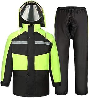 RYY Raincoats Rain Suit, for Men and Women Reusable Rainwear (Rain Jacket and Rain Pants Set), Adults Waterproof Rainproof...