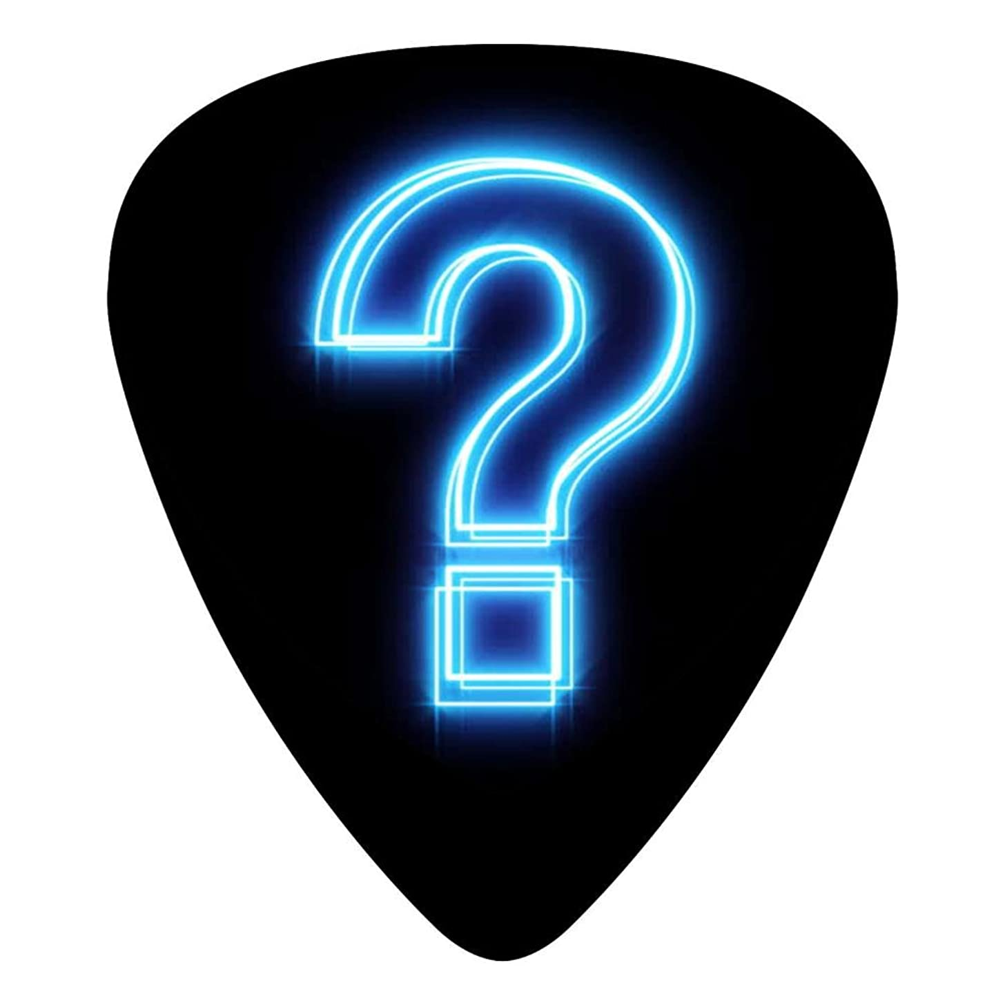Guitar Picks Celluloid Question Mark Gleamy 12 Pack Shape For Acoustic Guitar Mandolin Electric Guitar And Bass