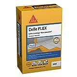 SIKA 200 Flex Gris, Colle à carrelage à double consistance sans poussières pour carrelage céramique et pierres naturelles (3600 cm² max), 5 kg