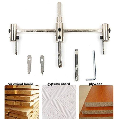Kreis Lochsäge, SROL Verstellbare Holz Kreis Loch Säge Bohrer Kreisschneider Holzverarbeitung Werkzeuge Circle Hole Saw Cutter Kit 40mm-200mm