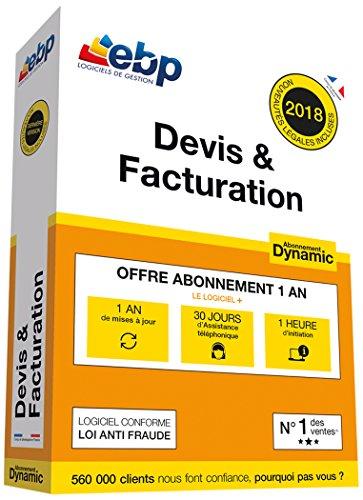 EBP Devis & Facturation Dynamic 12 mois + VIP - Dernière version - Ntés Légales incluses