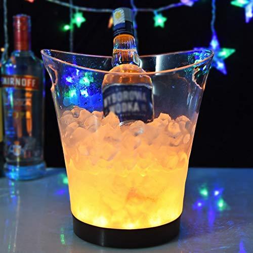 Led is hink 5 liter lysande is bucket champagne hink bar öl is hink champagne vin drycker öl hink för KTV fest bar hem bröllop för drycker och fester (Color : Yellow)