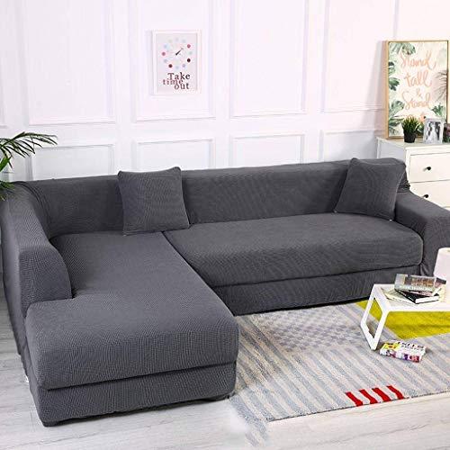 KXGL Jacquard Sofa Protector, L Shape Sofa Slipcove Elastic Sofa Cover Non Slip Sectional Sofa Corner Couch Sofa Cover for Pets Decoration-B-4 Seater(235‐310cm)