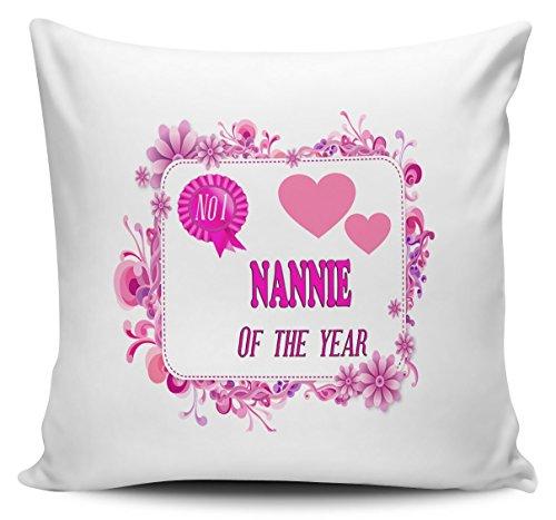 NO 1 NANNIE OF THE YEAR Novelty Cushion Cover 40cm x 40cm