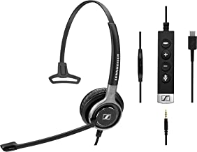 Sennheiser 508367 SC 635 USB-C Premium Wired Headset with Connectivity to PC or Mobile Devices Using USB-C or 3.5 mm Jack ...