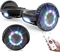 Evercross バランススクーター バランスボード 電動キックボード 全6色 (黒)