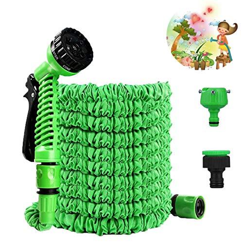 Tuofang Tubo da Giardino, 30M / 100FT Tubo Estensibile da Giardino, con Pistola 7 funzioni Getti Acqua, per Auto & Pet Lavaggio/Irrigazione Prato Giardinaggio Irrigazione Giardino