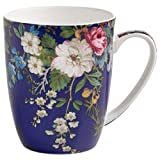Maxwell & Williams Kilburn Becher Floral Muse, Geschenkbox, Porzellan, WK09400 Tazza, Porcellana, Blu, 11.5 x 8.5 x 10.5 cm