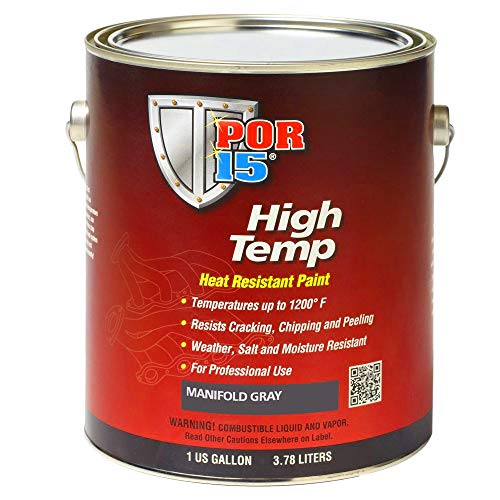 POR-15 44201 Gray High Temperature Paint Manifold - 1 gal