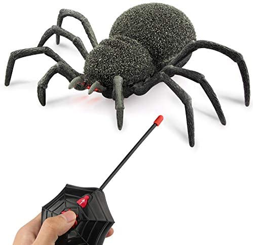 Baztoy Remote Control Joke Toys Halloween Prank Fake Scare Robot Climbing by 8 Legs Realistic product image