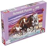 Schmidt Spiele- Wildes Pferde-Trio - Puzzle Infantil (200 Piezas), Color carbón (56356)