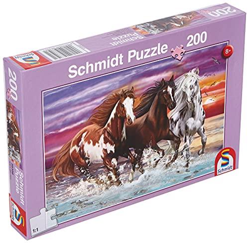 Schmidt Spiele- Wildes Trio, Puzzle per Bambini, 200 Pezzi, Multicolore, 56356