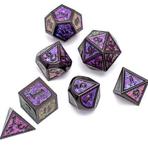 N/D DND Role Playing Dungeons and Dragons Metal Dice Set Pathfinder RPG Games DND Dice