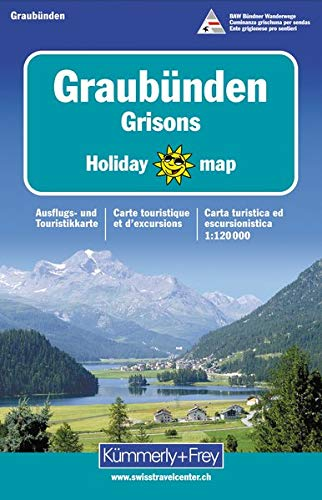 Holiday Map Graubünden 1 : 120 000. Ausflugs- und Touristikkarte. Attraktives Kartenbild. (Kümmerly+Frey Holiday Map)