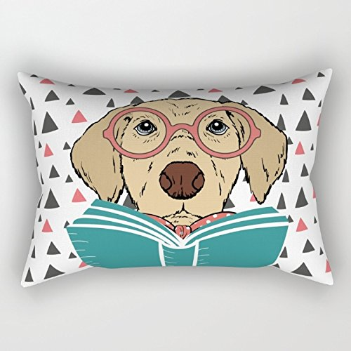 Bestseason Dogs Throw Christmas Pillow Case 20 X 30 Inches / 50 By 75 Cm Best Choice For Floor Study Room Pub Indoor Gril Friend Girls With Two Sides