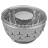 eSituro Barbecue Portatile a Carbone da Tavola Griglia con Ventola a Batteria BBQ per Camp...