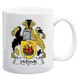 N\A McDonald Coat of Arms/McDonald Family Crest 11 Oz Tazza da caffè/Cacao in Ceramica