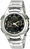 Casio Men's AQ160WD-1BV Stainless Steel Ana-Digi Electro-Luminescent Sport Watch