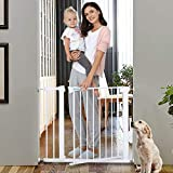 Safety Gate,29.5-40.5 inch Auto Close FeaturesLuxury Extra Tall&Wide Child Gate, Heavy-Duty gate, Easy Walk-Thru pet Gate for The House, Stairs, Doorways & Hallways. (Applicable 29.5''-40.5'')