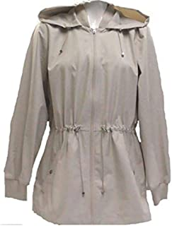 Bernardo Ladies' Jacket with Back Ruffle Hem (M, Beige)