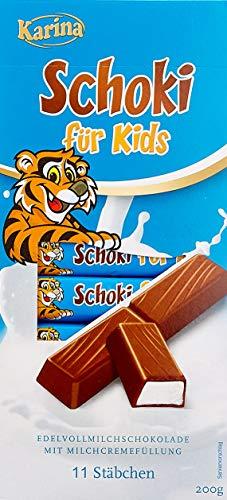 Karina Vollmilchschokolade mit Milchcremefüllung Schoki für Kids, 10er Pack (10 x 200 g)