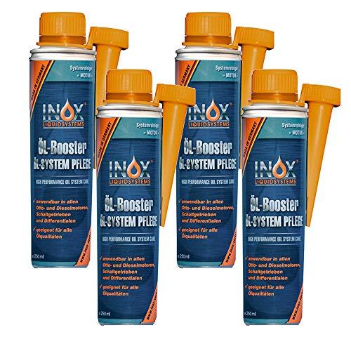 INOX® Huile Booster, huile Système d'entretien Additif pour voiture - 4 x 250 ml