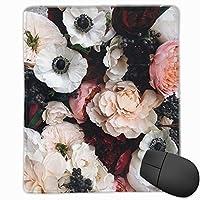 マウスパッド 綺麗な花 ゲーミング オフィス最適 高級感 おしゃれ 防水 耐久性が良い 滑り止めゴム底 ゲーミングなど適用 マウスの精密度を上がる( 22*18*0.3cm )